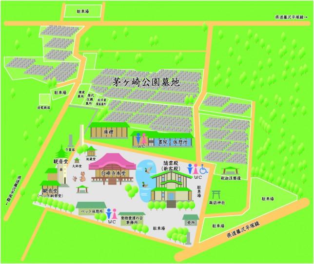 白峰寺境内図